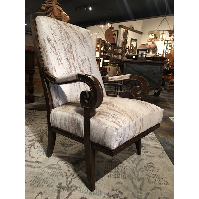 Primitive Paul Robert Leather Hyde Cosmo Chair For Sale - Image 3 of 10