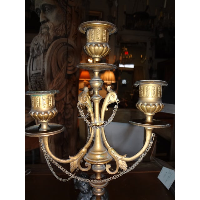 Pair of Louis XVI Period Candelabra For Sale In New Orleans - Image 6 of 9