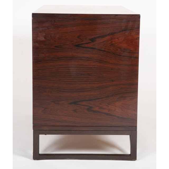 """1960s Svend Langkilde Design Rosewood Dressers on """"Stand Base"""" - a Pair For Sale - Image 5 of 13"""