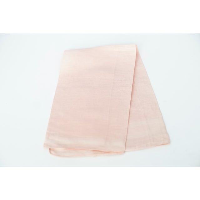 Cottage Vintage Fine Cotton Pink Crocheted Guest Towel For Sale - Image 3 of 9