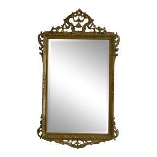 Carvers Guild Ornate Gold Framed Beveled Glass Mirror For Sale