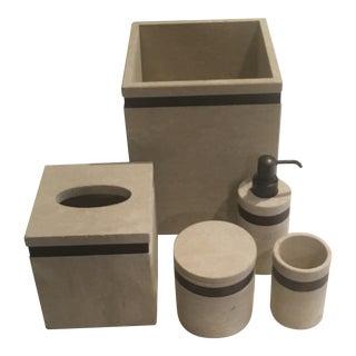 Labrazel Sandstone Bath Accessories, 5 Pieces For Sale