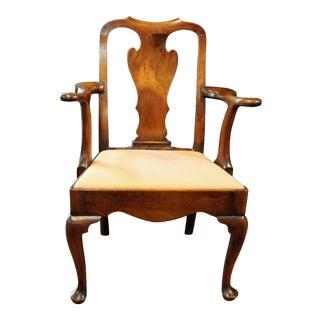 George I Period Walnut Arm Chair For Sale