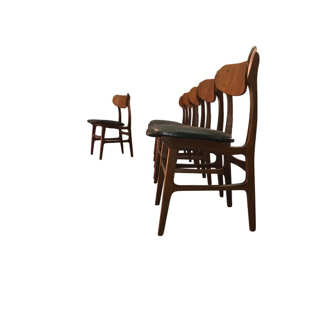 Danish Teak Round Back Dining Chairs - Set of 6 For Sale - Image 11 of 13
