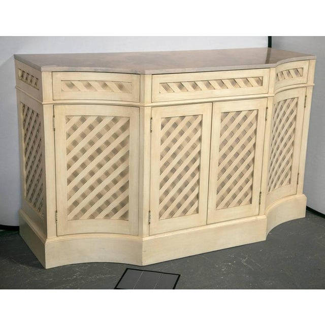 Contemporary Marble-Top Checkerboard Sideboard For Sale - Image 3 of 9