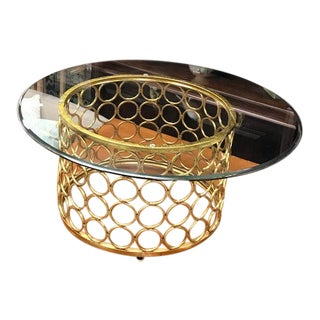 Modern Gold Ring Coffee Table For Sale