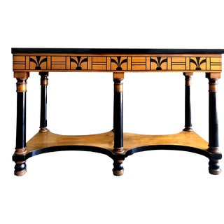 Vintage American Art Deco Console Table by Shaw Furniture Co. Cambridge Ma For Sale