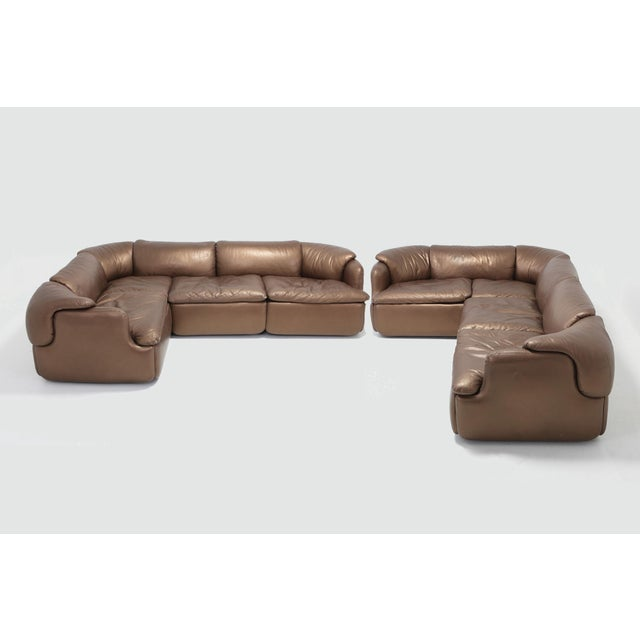 A very luxurious and rare edition in bronze leather. Designed by the Italian architect, Alberto Rosselli in 1972 for...