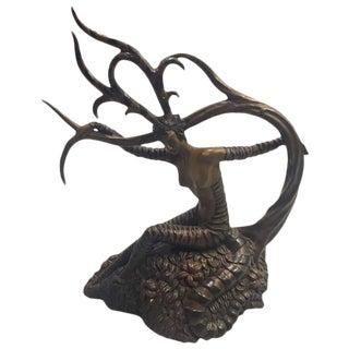"Erte Romain De Tirtoff ""The Hunting"" Bronze Sculpture For Sale"