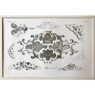 Antique 19th Century Vintage French Engraving Architectural Detail Print Dated 1844 Preview