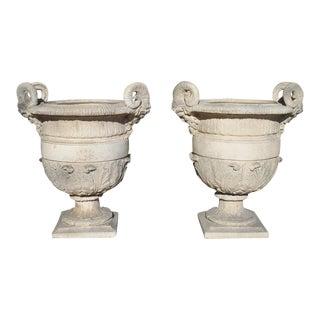 Cast Stone 'Versailles' Urns - a Pair For Sale