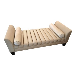 Transitional Beige Channeled Daybed For Sale