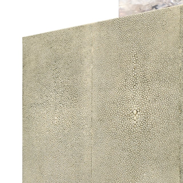 """Sylvan S.F. """"Shagreen on the Rock"""" Square Table Lamp by Sylvan San Francisco For Sale - Image 4 of 5"""