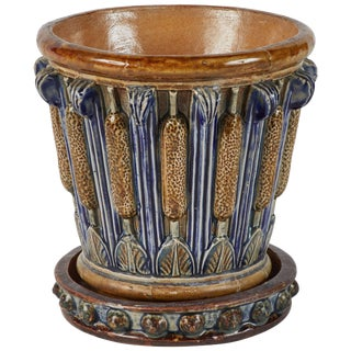 Early 20th Century Arts and Crafts Jardiniere Pot With Drip Tray For Sale