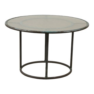 Walter Lamb for Brown Jordan Bronze Patio Round Side Table For Sale
