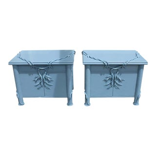 1980s Betty Cobonpue Nightstands for Scultura Philippines - a Pair For Sale
