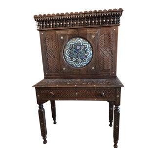 Moroccan Inlay Cabinet For Sale