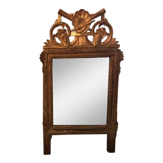 Petite Louis XVI Giltwood Mirror For Sale