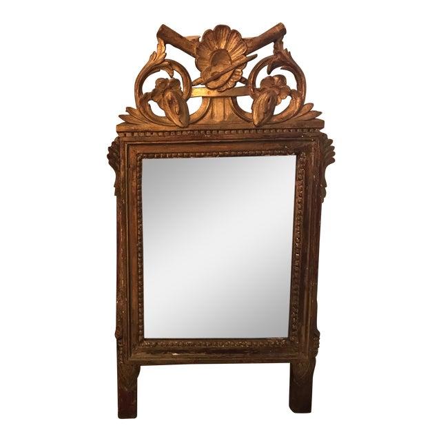 Petite Louis XVI Giltwood Mirror For Sale