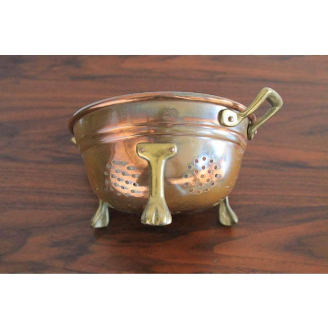 Mid 20th Century VintageCopper Colander For Sale - Image 5 of 8