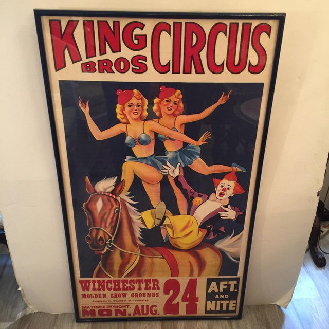 1959 Vintage King Brothers Circus Poster For Sale - Image 12 of 12