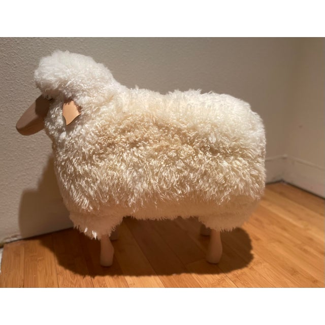 Early 21st Century Vintage Lalanne Style Carved Wood Sheep For Sale - Image 5 of 5