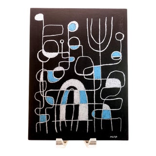 Michael Hirst Untitled II Modernist Abstract Painting on Wood For Sale