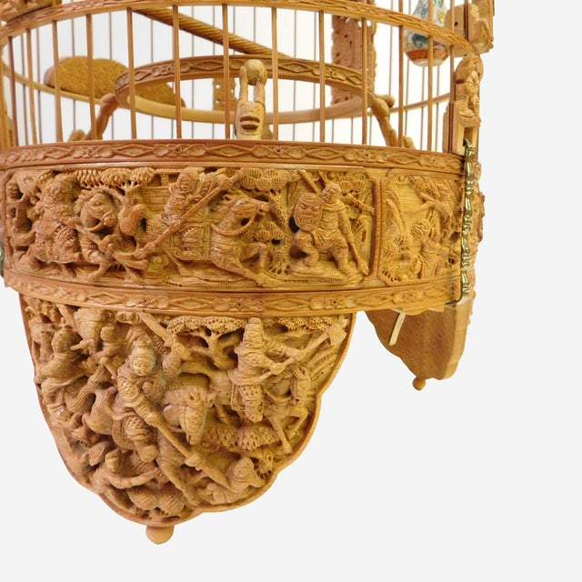 Bamboo Warfield Carving Birdcage - Image 5 of 10