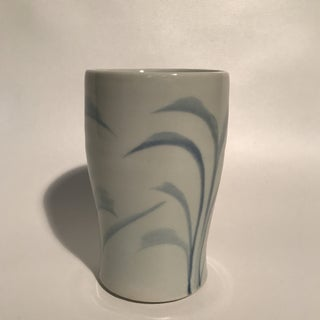 Hand Painted Blue and White Pottery Cup Preview