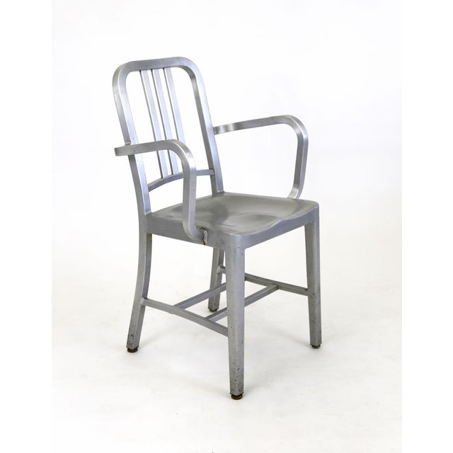 emeco aluminum naval captain s armchair chairish