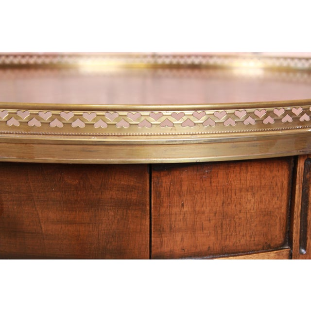 Baker Furniture French Regency Louis XVI Walnut Tea Table For Sale - Image 10 of 13