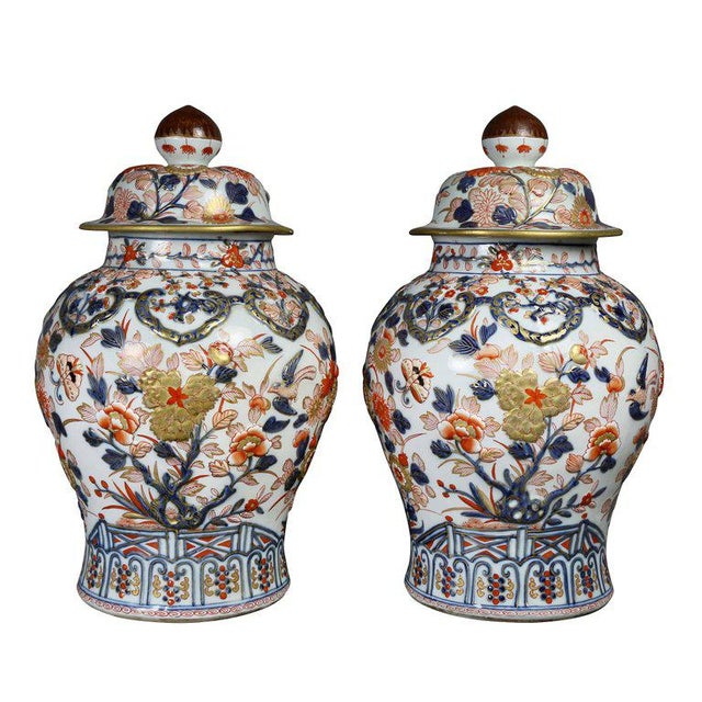 Pair of Samson Export Style Covered Temple Jars For Sale - Image 10 of 10
