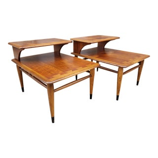 Mid Century Lane Acclaim Step Side Tables- a Pair For Sale