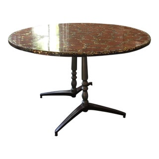 1970's Mid-Century Modern Abalone and Gold Foil Table