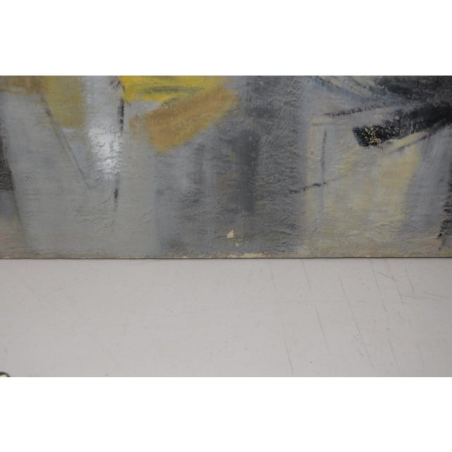 Mid Century Modern Abstract by Erika Baumgart c.1964 For Sale - Image 5 of 9