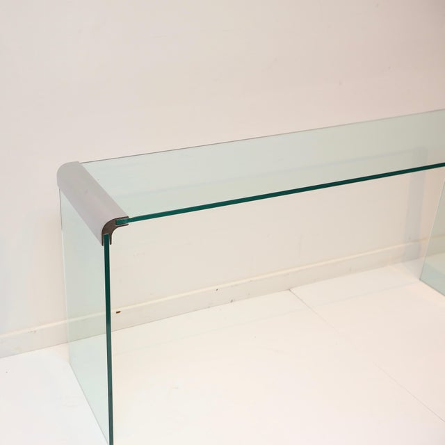 Chrome Pace Collection Waterfall Console Table For Sale - Image 7 of 8