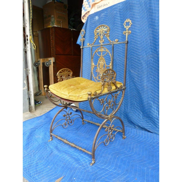 Mid-Century Modern Oscar Bach Bronze and Iron Armchair For Sale In Miami - Image 6 of 7