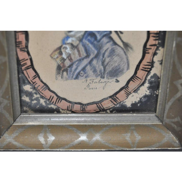 French Country 18th C. Gentleman's Silhouette Portrait For Sale - Image 3 of 5