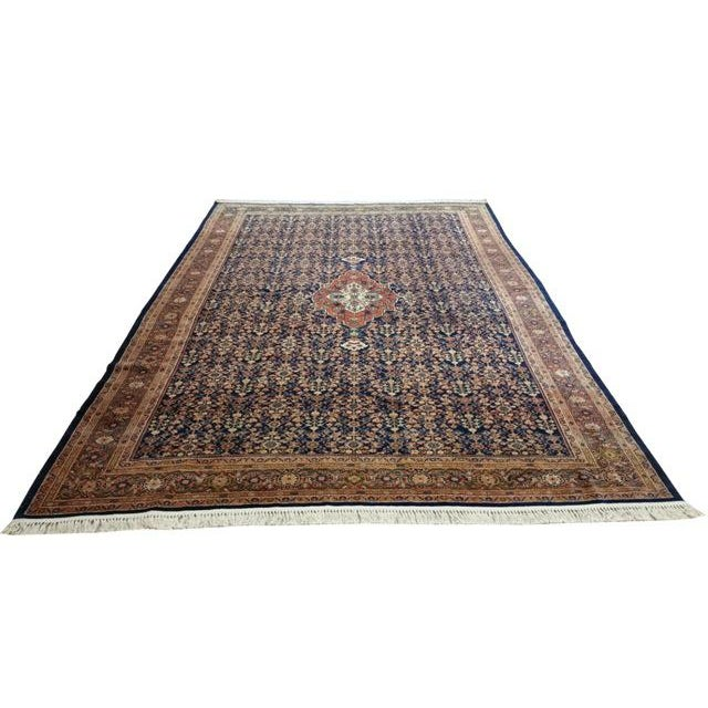 Infuse a touch of beauty to your home with this beautiful antique Persian malayer rug. The piece was handmade using wool....