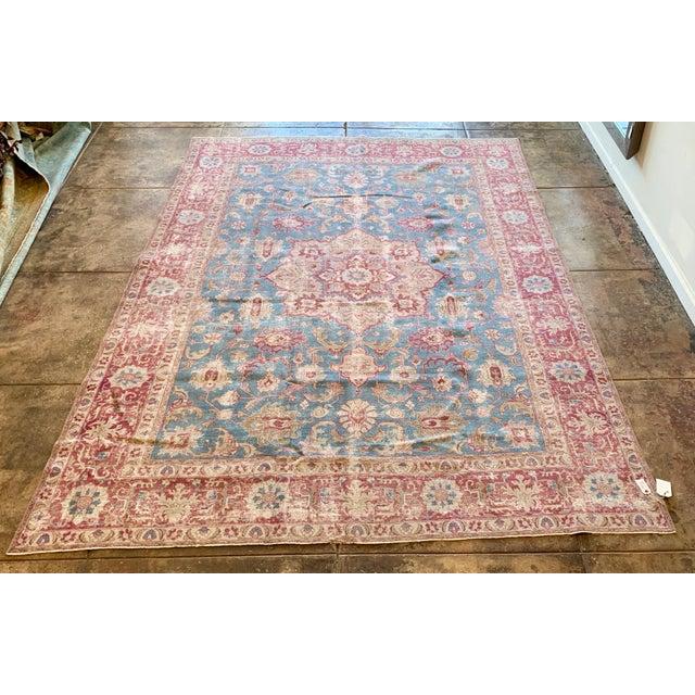 Vintage Tabriz Wool Rug - 7′ × 10′1″ For Sale - Image 9 of 9