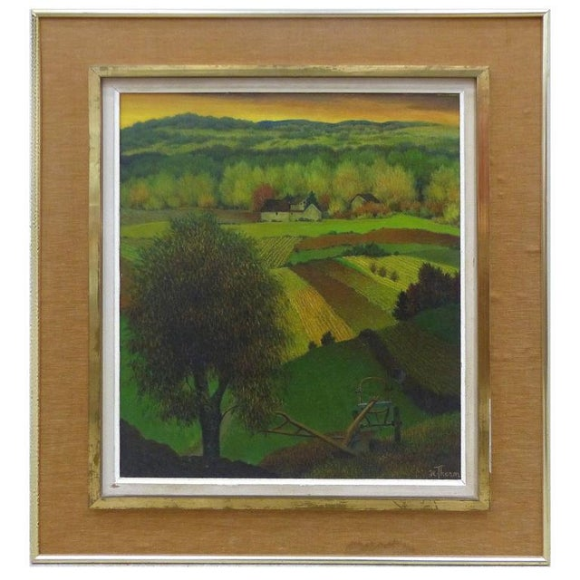 1950s French Henri Therme Landscape Oil Painting For Sale - Image 11 of 11
