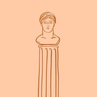Busto Su Colonna Print For Sale