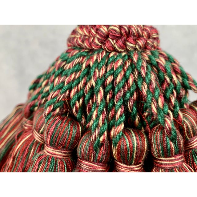 1990s Large Vintage Houlés of Paris Key Tassel in Red and Green For Sale - Image 5 of 7