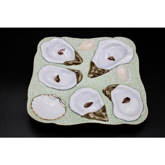 1960s Mint Green Oyster Plate For Sale - Image 6 of 11