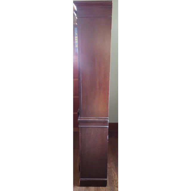 Art Deco 20th Century Gothic Mahogany China Cabinet For Sale - Image 3 of 12