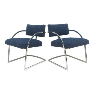 Vintage Modern Baughman Style Dining Chairs -Set of Four For Sale