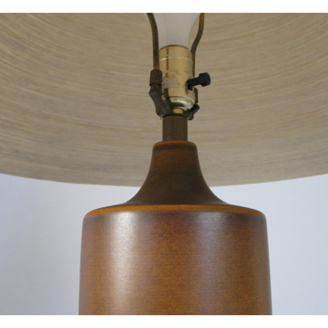 Danish Modern Large 1960's Danish Ceramic Lamp by Bostlund For Sale - Image 3 of 6