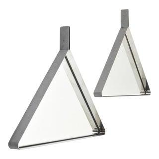 "Modern Mondellini ""Tria"" Mirrors- A Pair For Sale"