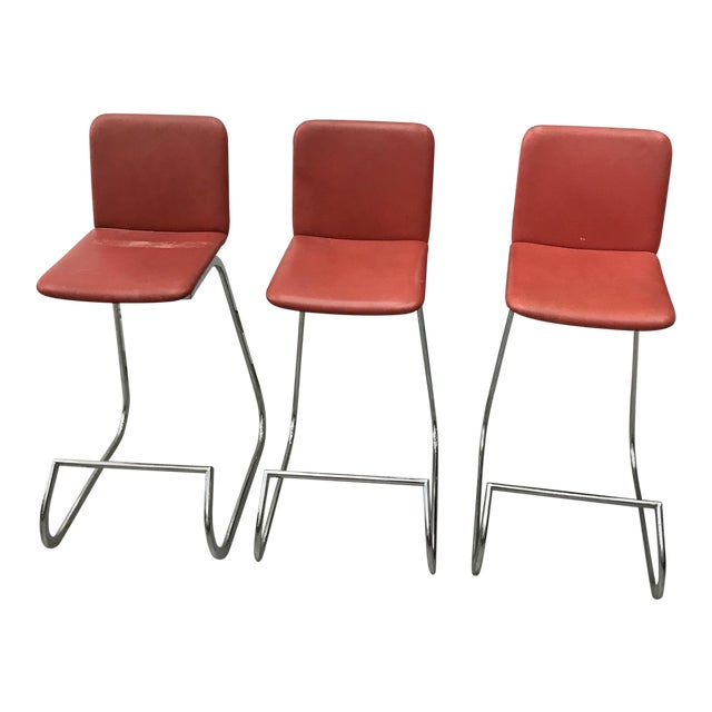 Image of 1970s Bar Stools by Stendig - Set of 3