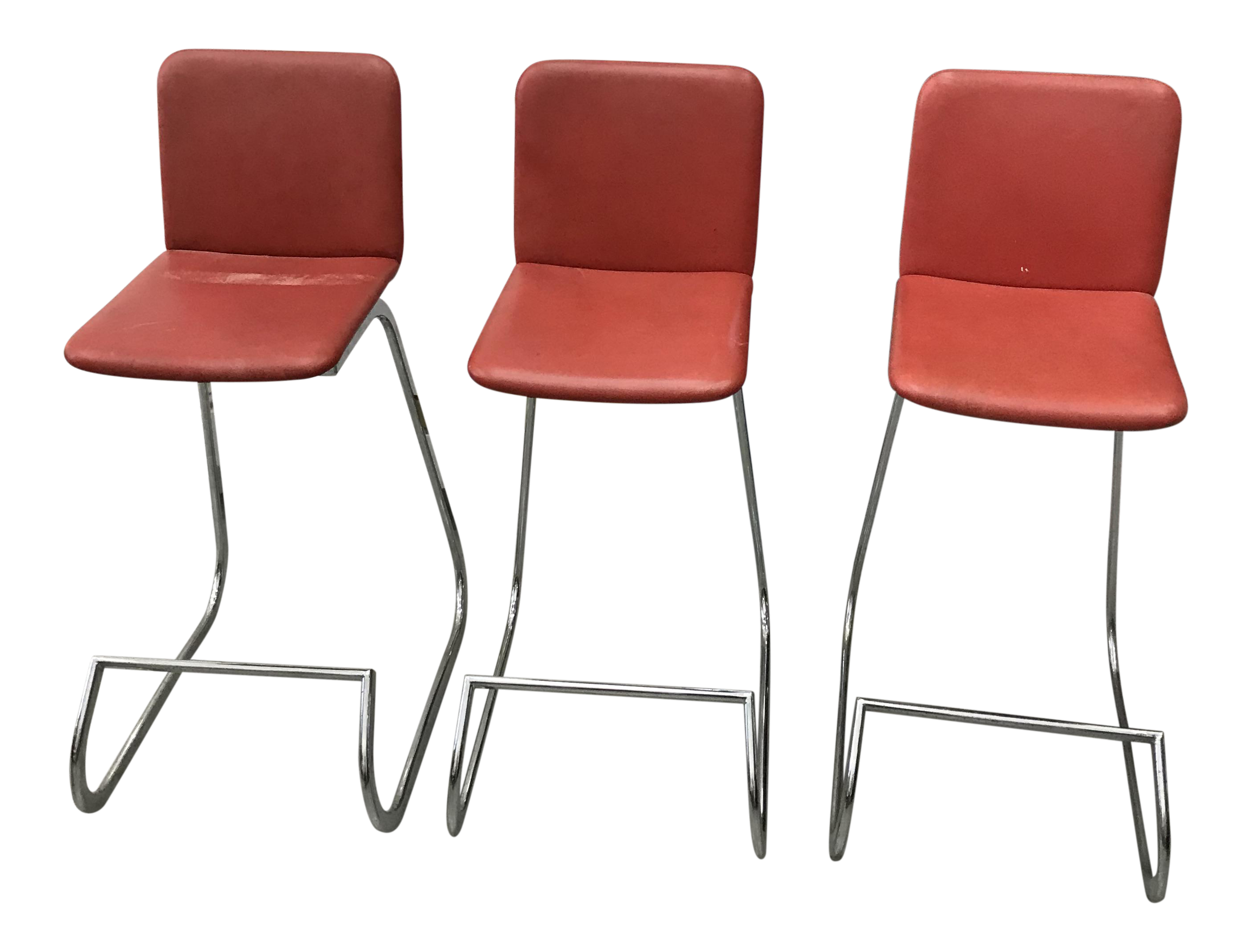 Beau 1970s Bar Stools By Stendig   Set Of 3